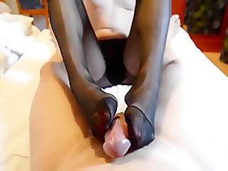 Amazing homemade Foot Fetish adult movie